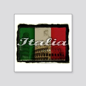 "2-Italia Square Sticker 3"" x 3"""